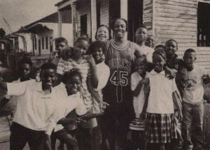 New Orleans rapper Mystikal with kids in his 12th Ward neighborhood