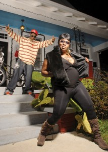 Cheeky Blakk Bounce Rapper and her son by Aubrey Edwards