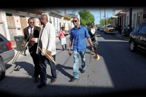 "Glen David, James, and Troy ""Trombone Shorty"" Andrews"