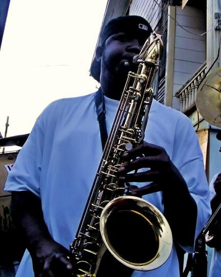 Brandon Franklin Saxophone Player of TBC Brass Band