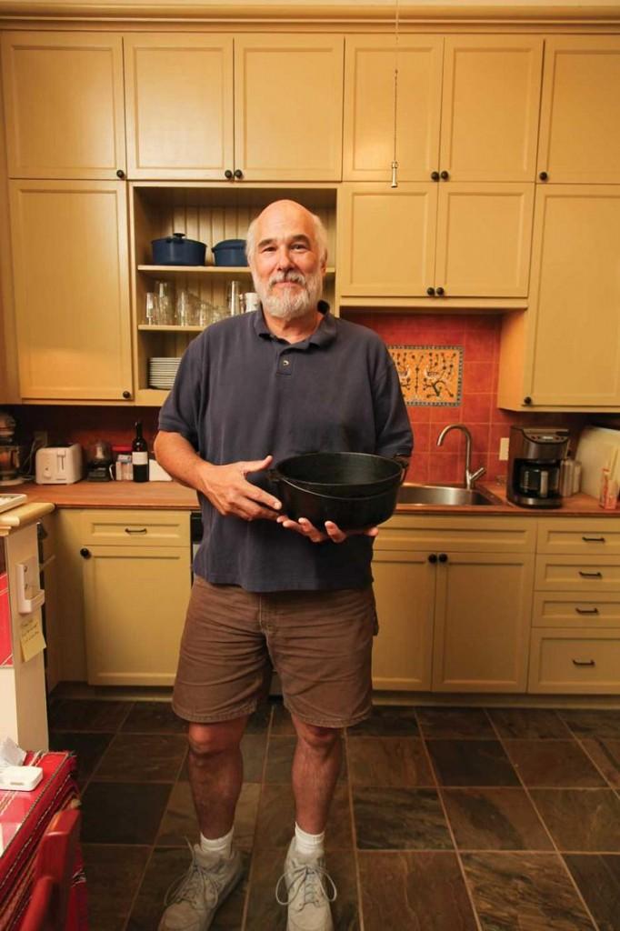 David Doucet, guitarist of BeauSoleil, cooks crab stew in the kitchen - The Gravy - OffBeat Magazine