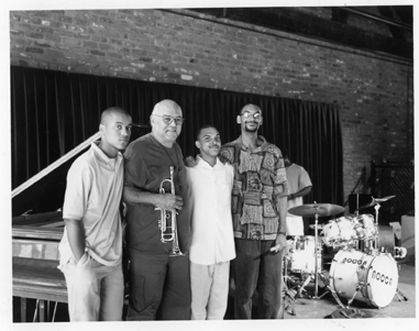 Clyde Kerr, Jr. with Ronald Markham, Irvin Mayfield, and Jason Marsalis