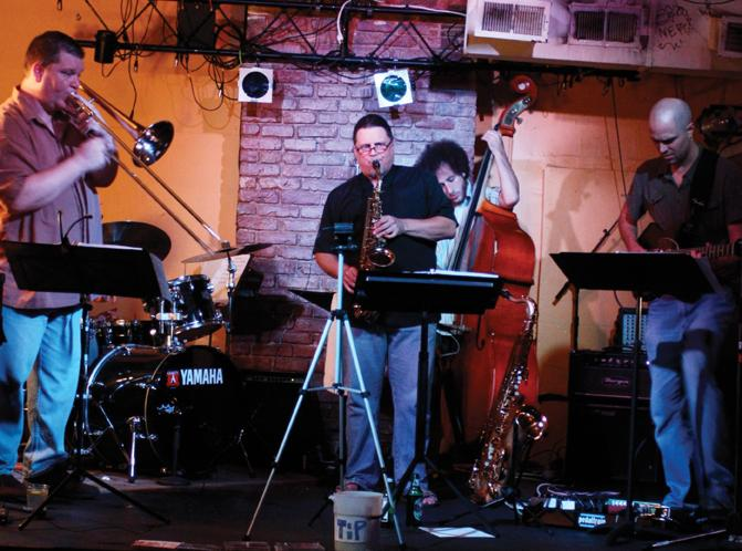 Jeff Albert Quintet at Open Ears Music Series. Photo by Caitlyn Ridenour.
