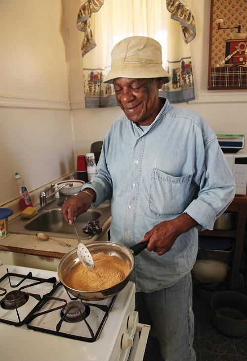 The Gravy: In the Kitchen with Monk Boudreaux. Photo by Elsa Hahne.