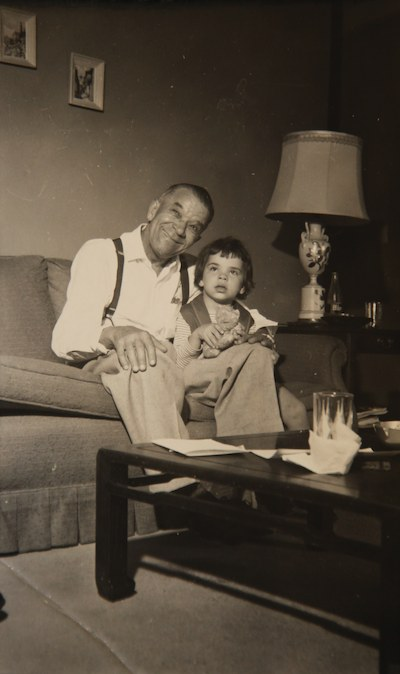 Kid Ory with his daughter in 1958
