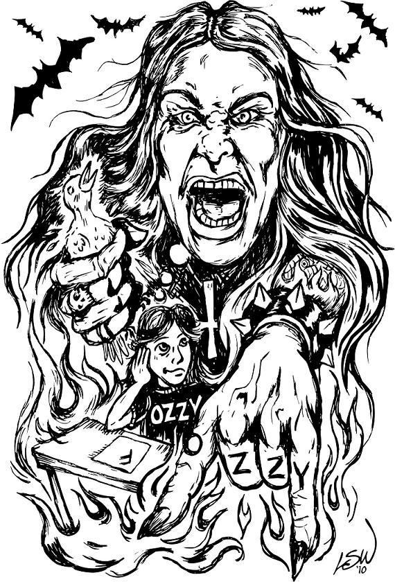 The Ozzy Shirt. Illustration by L. Steve Williams.