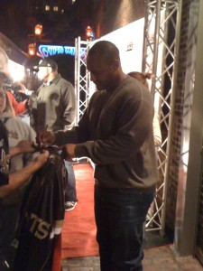 Will Smith of the New Orleans Saints outside the House of Blues New Orleans Monday, December 6