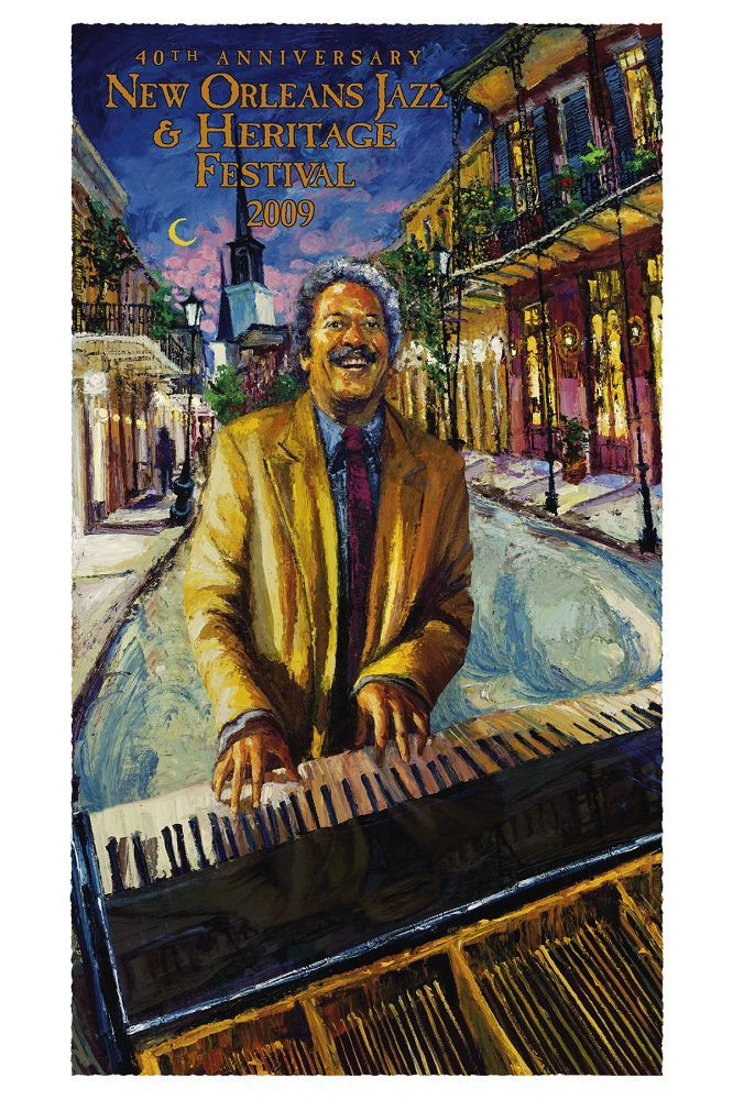 Allen Toussaint New Orleans Jazz and Heritage Festival Poster