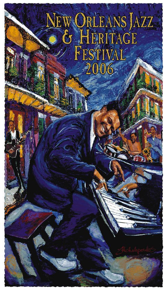 Fats Domino New Orleans Jazz and Heritage Festival Poster