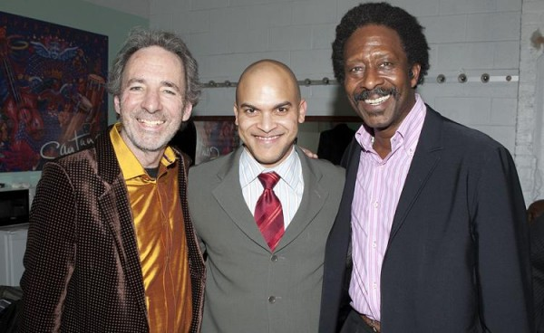 Clarke Peters, Harry Shearer and Irvin Mayfield at the CAC. Photo by Erika Goldring.