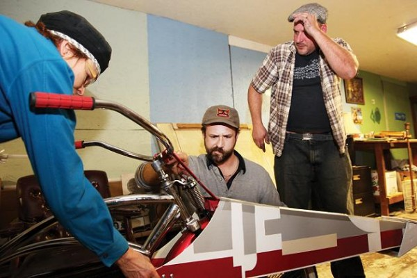 Ryan Ballard tweaks Chewbacchus' X-Wing Fighter Bicycle