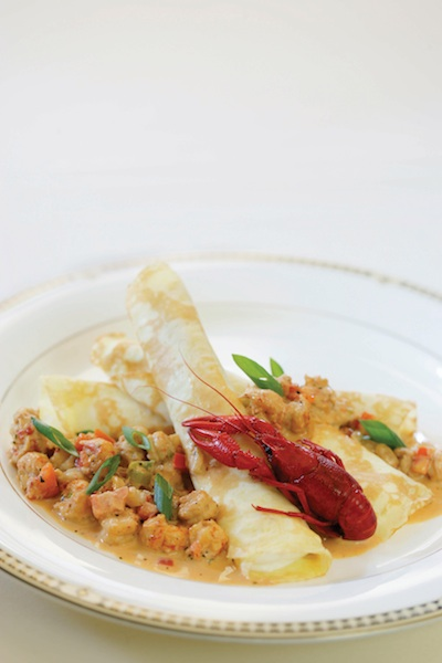 Crawfish Crepes at Muriel's Jackson Square Restaurant New Orleans.