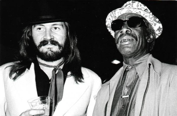 John Bonham, drummer of Led Zeppelin, with Professor Longhair. Photo by Sidney Smith.