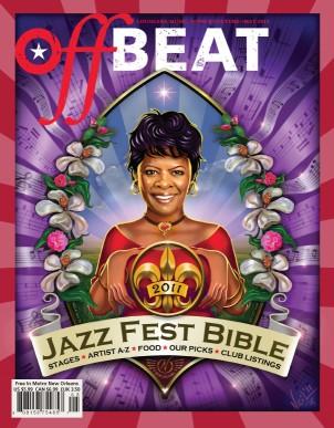 Irma Thomas. OffBeat Jazz Fest Bible Cover by Tim Neil.