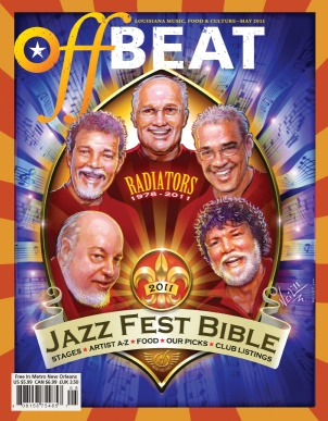 The Radiators. OffBeat Jazz Fest Bible Cover.