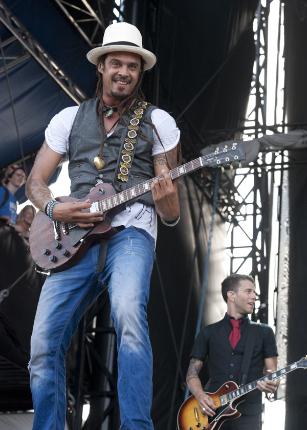 Michael Franti and Spearhead perform at the Hangout Music Festival Sunday. By Erika Goldring