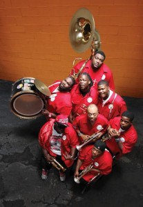 Hot 8 Brass Band. Photo by Elsa Hahne.