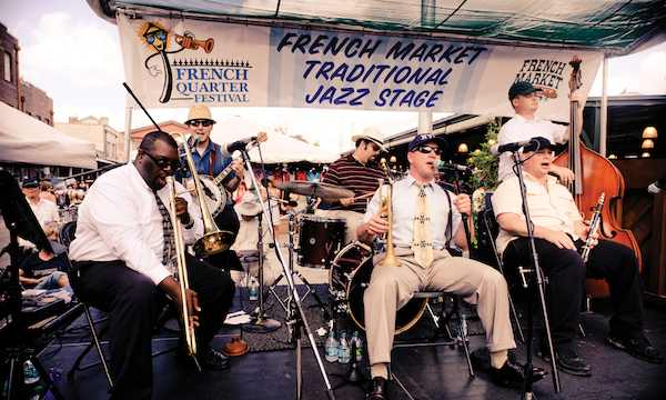 New Orleans Moonshiners at French Quarter Festival. Photo by Scott Myers.