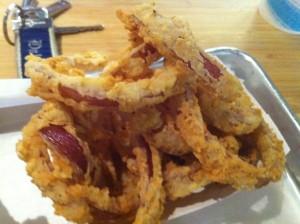 Onion rings from The Company Burger. Photo by Jenny Sklar.