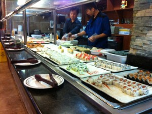 Sushi at East Buffet in Metairie. Photo by Jenny Sklar.