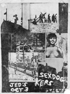 New Orleans punk poster: Sexdog and the Red Rockers at Jed's