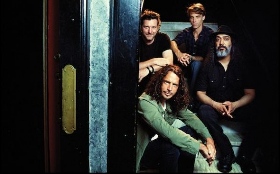 Soundgarden. From left to right: Matt Cameron, Chris Cornell, Ben Shepherd, and Kim Thayil.