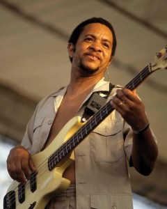 George Porter, Jr. with The Meters at Jazz Fest 1991. Photo by Clayton Call.