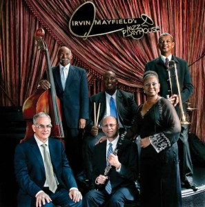 The Original Tuxedo Jazz Band's current lineup: (clockwise from back left) Richard Moten, Gerald French, Lucien Barbarin, Yolanda Windsay, Tom Fischer, Larry Sieberth