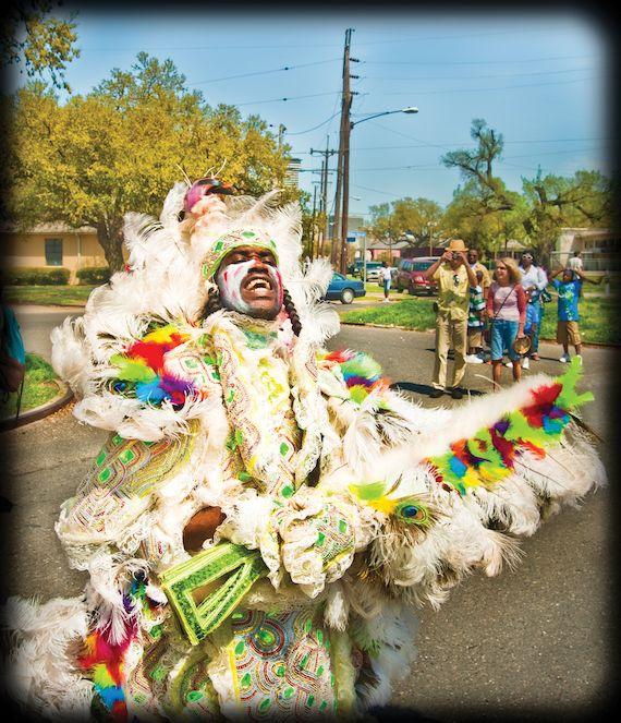 Mardi Gras Indian on Super Sunday. Photo by Alexei Kazantsev.