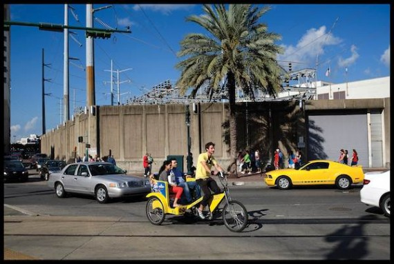 Pedicab in New Orleans. Photo by Ryan Hodgson-Rigsbee.