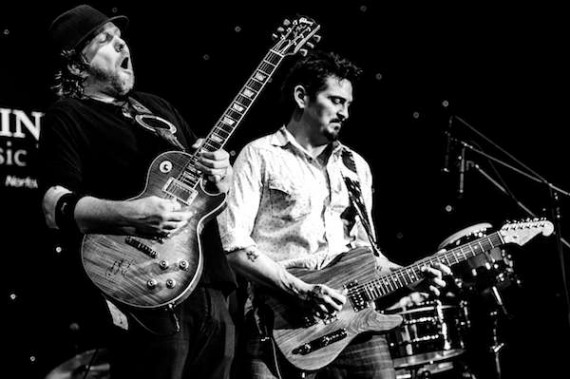 Royal Southern Brotherhood guitarists Devon Allman and Mike Zito. Photo by Jerry Moran.