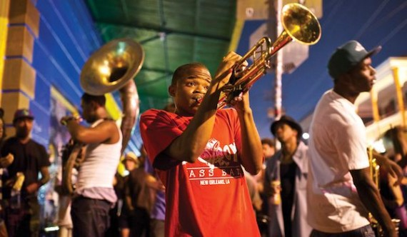 Baby Boyz Brass Band on Frenchmen Street. Photo by Marc Pagani.