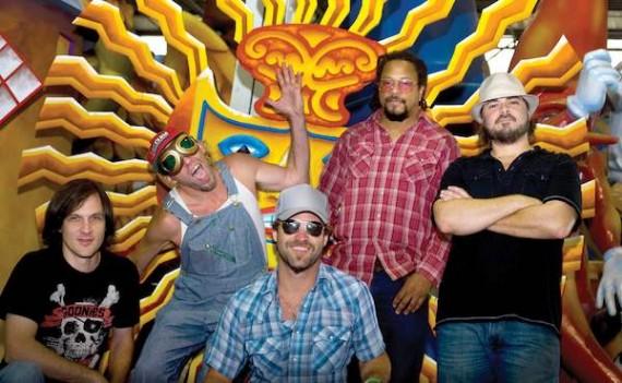 Honey Island Swamp Band. L-R: Trevor Brooks, Sam Price, Aaron Wilkinson, Garland Paul, Chris Mule. Photo by Nunu Zomot.