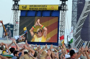 Jimmy Buffett at the New Orleans Jazz & Heritage Festival in 2011. Photo by Kim Welsh.