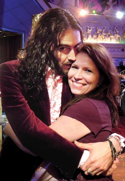 Russell Brand and Cindy Scott