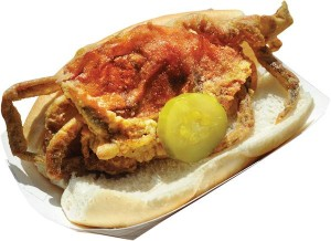 Soft-Shell Crab Po-Boy. Photo by Nunu Zomot.