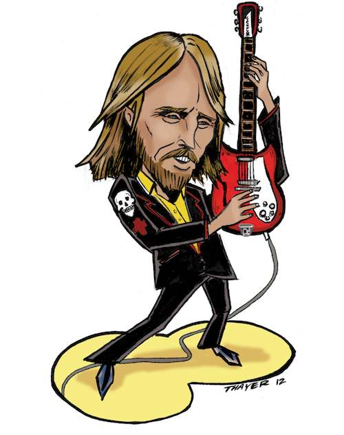 Tom Petty. Illustration by Kevin Thayer.