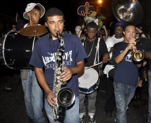 Baby Boyz Brass Band. Photo by Kim Welsh.