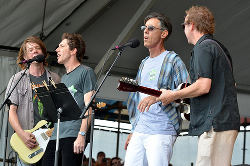 Dave Pirner, Rene Coman, Rick Olivier and Alex McMurray at the Tribute to Alex Chilton at the New Orleans Jazz and Heritage Festival Apr. 29, 2012. Photo by Kim Welsh.