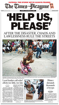 Times-Picayune Cover After Hurricane Katrina
