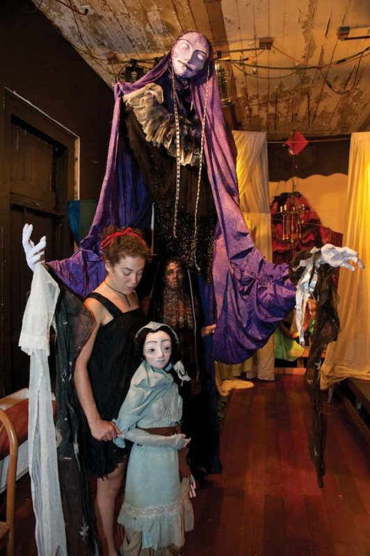 "The puppets ""Night"" and ""Mother"" by the Mudlark Theatre's Pandora Gastelum and Otter Goodfellow. Photo by Elsa Hahne."