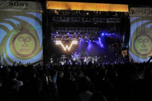 Weezer at Voodoo Experience 2010. Photo by Aaron Lafont.