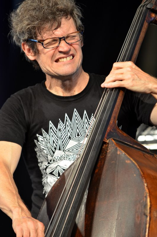 James Singleton at Jazz Fest 2012. Photo by Kim Welsh.