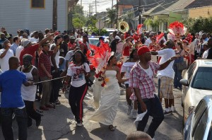 New Orleans Bayou Steppers/Silence Is Violence 2011 Second Line. Photo by Kim Welsh.