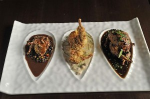 Triptych of Quail from R'evolution. Photo by Ron Manville.