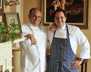 Chefs John Folse and Rick Tramonto of Restaurant R'evolution. Photo by Ron Manville.