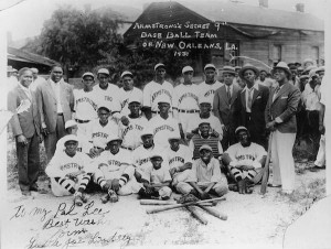 Louis Armstrong's Secret Nine baseball team in 1931. Photo courtesy of Hogan Jazz Archive, Tulane University.