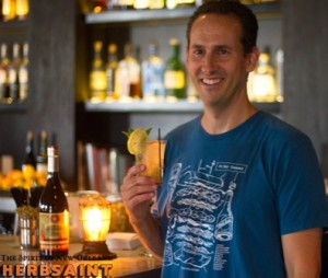 Michael Glassberg of Hotel Monteleone, winner of the Herbsaint-OffBeat Melodic Mixology Competition