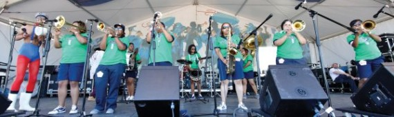 The Original Pinettes Brass Band at New Orleans Jazz and Heritage Festival 2011. Photo by Golden Richard III.