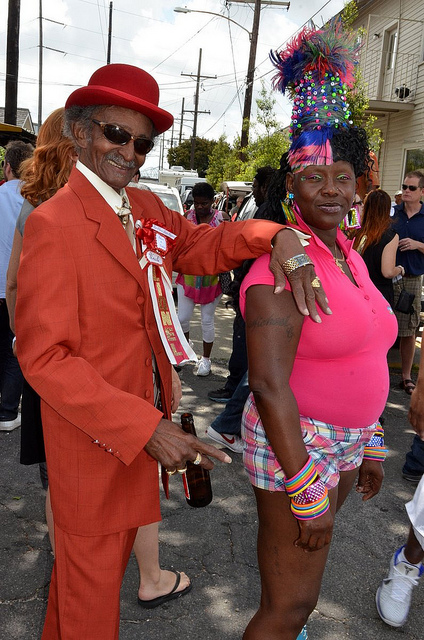 Uncle Lionel Batiste at the 2011 Bayou Steppers second line. Photo by Kim Welsh.